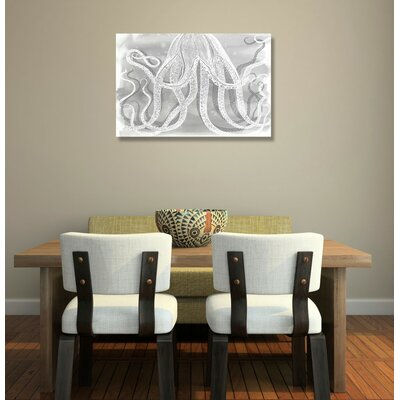 Octopus Framed Graphic Art on Wrapped Canvas