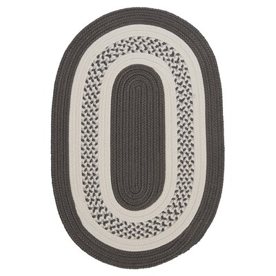 Rockport Gray Indoor/Outdoor Rug Rug Size: Oval 2 x 4