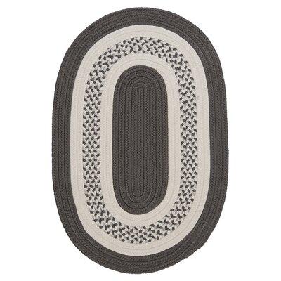 Rockport Gray Indoor/Outdoor Rug Rug Size: Oval 3 x 5