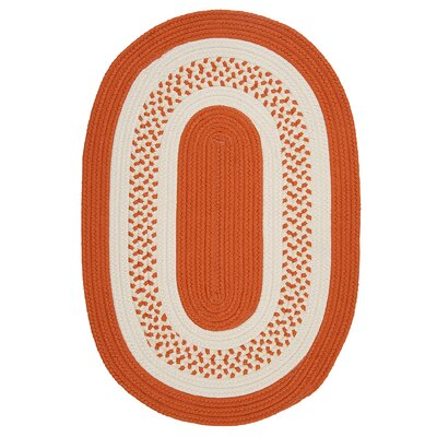 Rockport Orange Indoor/Outdoor Rug Rug Size: Oval 2 x 3