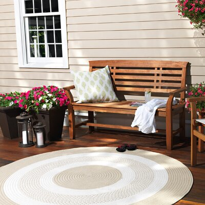 Rockport Neutral Linen Indoor/Outdoor Rug Rug Size: Round 4