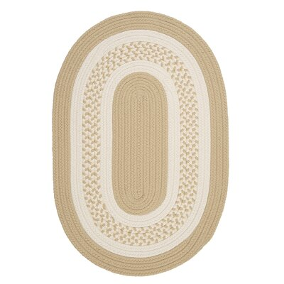 Rockport Neutral Linen Indoor/Outdoor Rug Rug Size: Oval Runner 2 x 12
