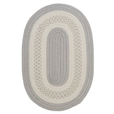 Rockport Silver Indoor/Outdoor Area Rug Rug Size: Oval Runner 2 x 10