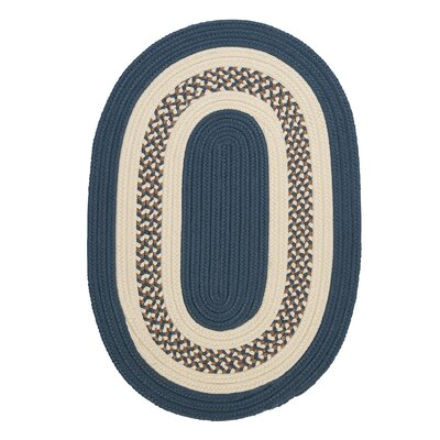 Rockport Lake Blue Indoor/Outdoor Rug Rug Size: Round 4