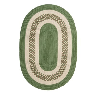 Rockport Moss Green Indoor/Outdoor Rug Rug Size: Oval 3 x 5