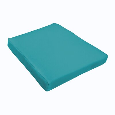 Outdoor Sunbrella Dining Chair Cushion Color: Teal
