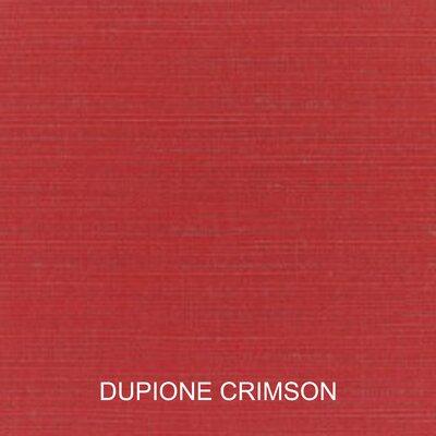 Outdoor Sunbrella Sofa Cushion Fabric: Dupione Crimson