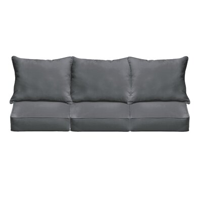 Outdoor Sunbrella Sofa Cushion Fabric: Charcoal