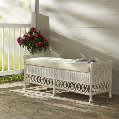 Winchendon Wicker Entryway Bench