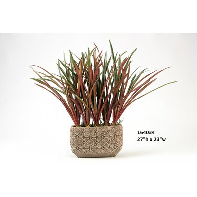 Areca Grass in Rectangular Ceramic Planter