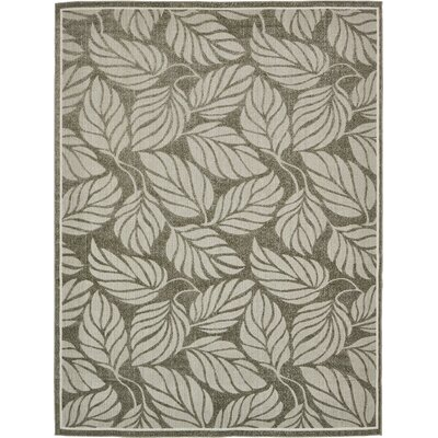 Barton Olive Indoor/Outdoor Area Rug Rug Size: 9 x 12