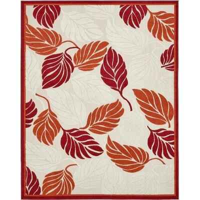 Westerly Beige/Red Indoor/Outdoor Area Rug Rug Size: 8 x 10