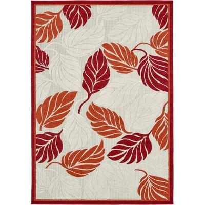 Westerly Beige/Red Indoor/Outdoor Area Rug Rug Size: 7 x 10
