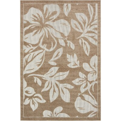 Duxbury Beige Indoor/Outdoor Area Rug Rug Size: 6 x 9