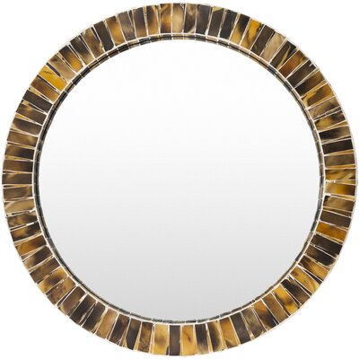 Farmington Round Brown Wall Mirror