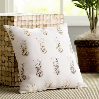 Elianna Gold Pineapples Throw Pillow Size: 18 H x 18 W x 2 D