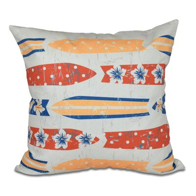 Pembrook Jan Geometric Outdoor Throw Pillow Size: 18 H x 18 W