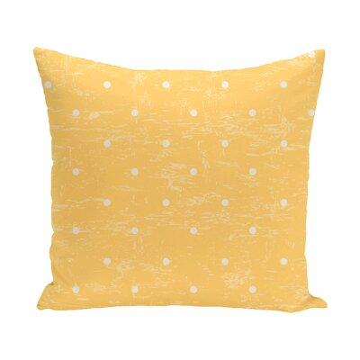 Pembrook Dorothy Dot Geometric Throw Pillow Size: 16 H x 16 W, Color: Yellow