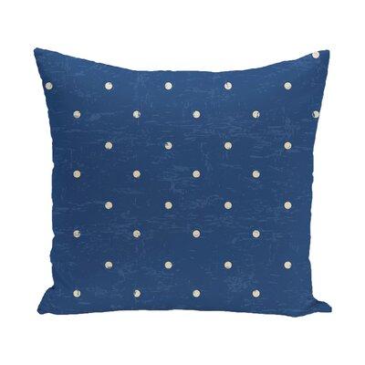 Pembrook Dorothy Dot Geometric Throw Pillow Size: 20 H x 20 W, Color: Blue
