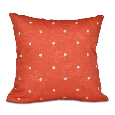 Pembrook Dorothy Dot Geometric Throw Pillow Color: Orange, Size: 26 H x 26 W