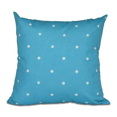 Pembrook Dorothy Dot Geometric Throw Pillow Size: 16 H x 16 W, Color: Turquoise