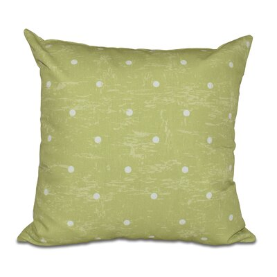 Pembrook Dorothy Dot Geometric Throw Pillow Size: 26 H x 26 W, Color: Light Green