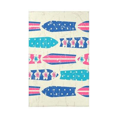 Pembrook Dean Geometric Throw Blanket Size: 60 L x 50 W x 0.5 D, Color: Blue