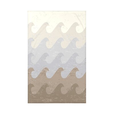 Pembrook Deep Sea Geometric Throw Blanket Size: 60 L x 50 W x 0.5 D, Color: Taupe/Gray