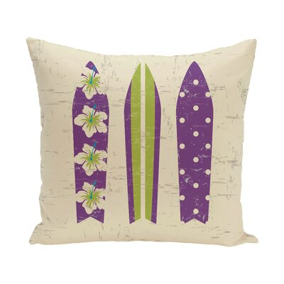Pembrook Triple Surf Geometric Throw Pillow Size: 18 H x 18 W, Color: Purple