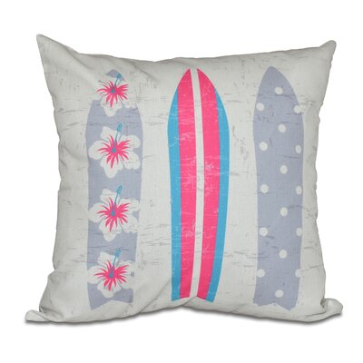 Pembrook Triple Surf Geometric Throw Pillow Size: 18 H x 18 W, Color: Pink