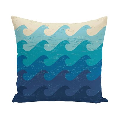 Pembrook Deep Sea Throw Pillow Size: 16 H x 16 W, Color: Blue