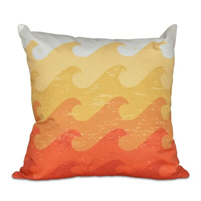 Pembrook Deep Sea Geometric Throw Pillow Size: 26 H x 26 W, Color: Yellow/Orange