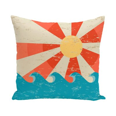 Pembrook Sunbeams Geometric Throw Pillow Color: Orange, Size: 26 H x 26 W