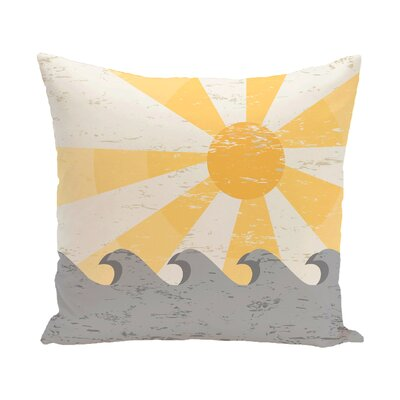 Pembrook Sunbeams Geometric Throw Pillow Size: 26 H x 26 W, Color: Yellow