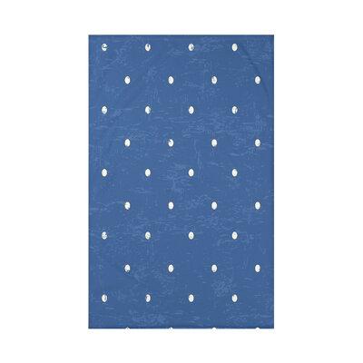 Pembrook Dorothy Dot Geometric Throw Blanket Size: 60 L x 50 W x 0.5 D, Color: Blue