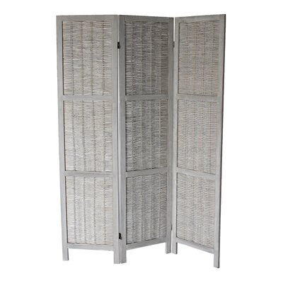 Buckland 70 x 50 3 Panel Room Divider Color: Gray