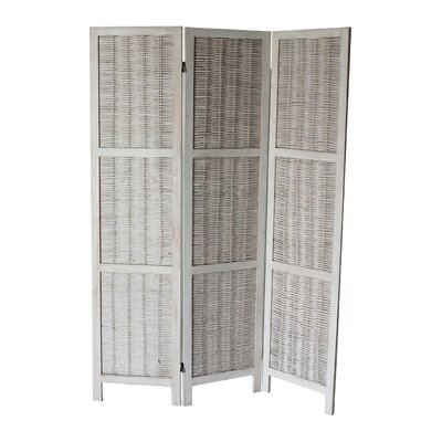 Buckland 70 x 50 3 Panel Room Divider Color: White