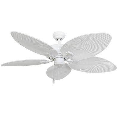 52 Moraine 5-Blade Indoor Ceiling Fan with Remote Finish: White
