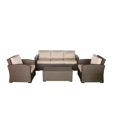 Northfield Sofa 4 Piece Seating Group with Cushions Fabric: Beige