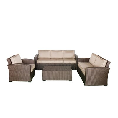 Northfield Sofa & Loveseat 4 Piece Seating Group with Cushions Fabric: Beige