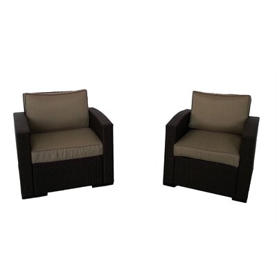 Northfield Club Chair with Cushions Fabric: Beige