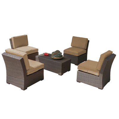 Northfield 5 Piece Seating Group with Cushions Fabric: Beige