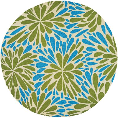 Wallingford Summer Siesta Hand-Woven Blue/Green Indoor/Outdoor Area Rug Rug Size: Round 710