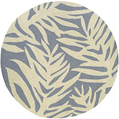 Wallingford Hand-Woven Gray/Beige Indoor/Outdoor Area Rug Rug Size: Round 710
