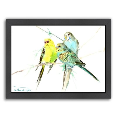 Parakeets Framed Painting Print
