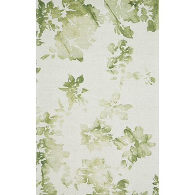 Newburyport Hand-Hooked Avocado Area Rug Rug Size: Rectangle 5 x 8