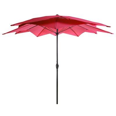 Eastham 8.5 Lotus Umbrella Color: Red