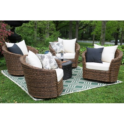 Pikeville 5 Piece Swivel Seating Group with Cushions