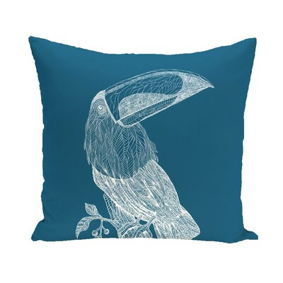 Beverly Throw Pillow Color: Teal, Size: 16 H x 16 W