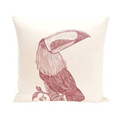 Beverly Throw Pillow Size: 16 H x 16 W, Color: Ivory/Rust